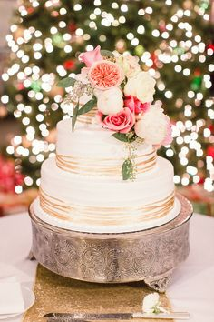 New Year's Eve real Cleveland wedding at The Arcade, photo by Lauren Gabrielle, cake by White Flour Bakery | Boutique Bridal Book CLE