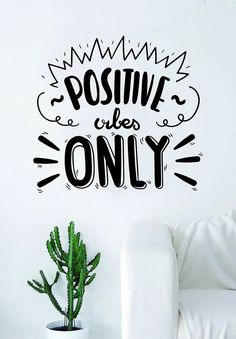 Decals Vinyl Stickers Positive Vibes Only Quote Wall Decal Sticker Bedroom Home Room Art Vinyl Inspirational Decor Yoga Funny Namaste Flower Yin Yang Fast Delivery Made in USA Positive Vibes Only, Positive Quotes, Vinyl Wall Art, Wall Decal Sticker, Wall Stickers, Vinyl Decals, Peace Quotes, Life Quotes, Cool Ideas