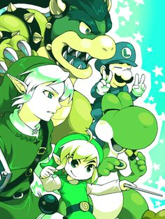 Super Smash Bros. go green