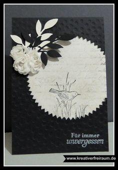 Trauerkarte | Stampin' Up! | Natur- Nah | En Francais | Zarter Zweig | Punktemeer | Blütenband |