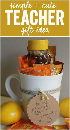 Cute + Simple Teacher Gift Idea with Bigelow Tea - perfect for the teacher in your life who could use a relaxing break with a hot cup of tea! #MeAndMyTea #ad