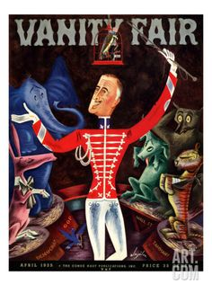 Vanity Fair Cover - April 1935 Regular Giclee Print by Constantin Alajalov at Art.com