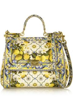 Dolce & Gabbana|Sicily printed textured-leather tote|NET-A-PORTER.COM