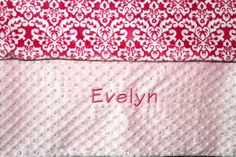 Personalized Premium Minky Dot Blanket by EmbroideryMark on Etsy www.embroiderymark.etsy.com