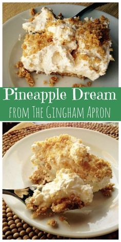 Pineapple Dream: Cool, refreshing, and SO delicious! A fabulous dessert! Desserts Nutella, 13 Desserts, Delicious Desserts, Dessert Recipes, Yummy Food, Jello Pudding Recipes, Refreshing Desserts, Cheesecake Recipes, Pineapple Desserts