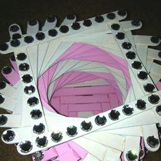 Spiral Popsicle stick basket