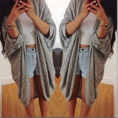 Light cardigan Three color: khaki, grey and bluish grey mixed with a hint of blue. Hand wash. Due to fold, it may look better after wash. Linen mixed with cotton. Buyer modeled, thanks  NA Sweaters Cardigans