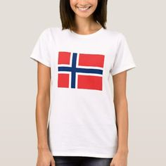 Shop Norwegian Flag National Flag of Norway T-Shirt created by Stark_Raving_Realist. Personalize it with photos & text or purchase as is! Norwegian Flag, Norway Flag, Flag Shirt, National Flag, Wardrobe Staples, Shirt Style, Colorful Shirts, Kids Outfits, Shirt Designs