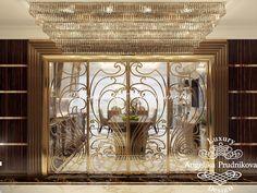 Дизайн проект интерьера квартиры в стиле Ар Деко в ЖК Гранд Парк - фото