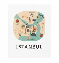 Affiche Istanbul Rifle Paper Co