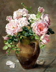 Gallery of Anne Cotterill Reproduction Flower Prints and Fine Art Cards. Mill House Fine Art – Publishers of Anne Cotterill Flower Art Art Floral, Deco Floral, Painting Still Life, Still Life Art, Flower Prints, Flower Art, Art Carte, Rose Art, Beautiful Paintings