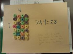 Mr. B's Beach Brains: Edible Arrays...love this idea!