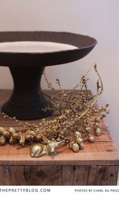 Handmade Cake Stand & Gold details - KAMERS 2013 on The Pretty Blog - Photo by Charl du Preez