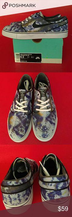 BRAND NEW  NIKE  SB  MEN'S SNEAKER 100% AUTHENTIC WITH BOX Adult UNISEX. MEN 9.5. WEMEN 11 NIKE  ZOOM STEFAN JANOSKI PR QS WHITE/BLACK DEEP ROYAl BLUE REASONABLE OFFER IS  WELCOMED Shoes Sneakers