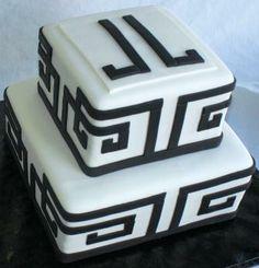 Jonathan Adler Inspired Engagement Cake