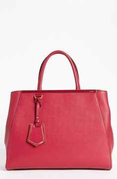 $2,350, Fendi 2jours Elite Leather Shopper. Sold by Nordstrom. Click for more info: https://lookastic.com/women/shop_items/9970/redirect