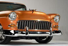 55 Chevy grill, orange