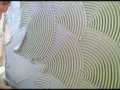 grafiato caseiro-aplicação. PARED TEXTURADA