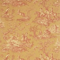 Sanderson - Traditional to contemporary, high quality designer fabrics and wallpapers | Products | British/UK Fabric and Wallpapers | Stag Hunting (DEGTST101) | Toile Wallpapers