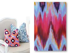 Ikat Giclee Art Print From Modern Original Ikat Inspired Painting by Lana Moes, $55.00