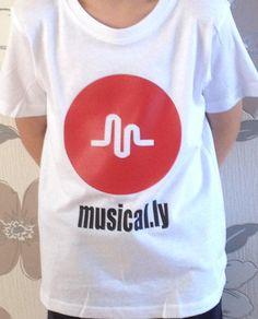 Girls or boy unisex 'musical.ly t shirt 3-4 4-5 6-7