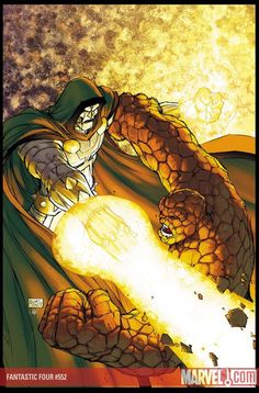 Dr. Doom vs The Thing by Michael Turner