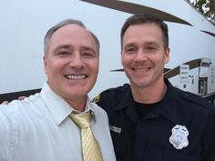 """Jody Mullins with Gary Ray Moore on the set of """"HOLDING PATTERNS"""" in Mobile Alabama."""