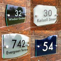 Personalised Modern House Sign Door Number Street Address Glass Effect Acrylic Plaque Door Numbers, House Numbers, Acrylic Plaques, Acrylic Letters, Acrylic Frames, Name Plate Design, Name Plates For Home, Interior Window Trim, Interior Doors