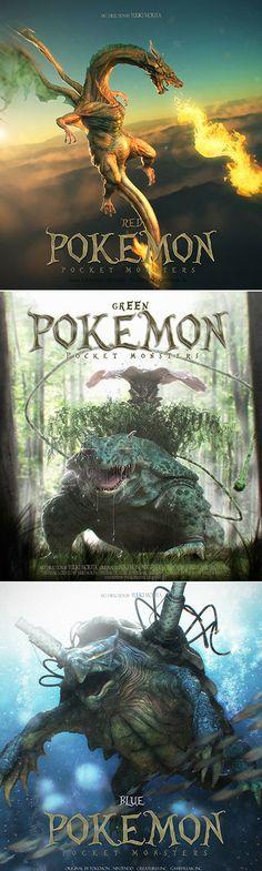 Japanese artist Yuuki Morita created three incredibly realistic 3D illustrations of Pokémon characters. Yuuki used the design software Maya and ZBrush to bring his vision to life.