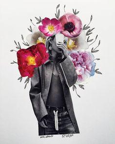 flower collage by kate rabbit - No. 68/100 Art Journal Inspiration, Graphic Design Inspiration, Art Inspo, Fashion Collage, Fashion Art, Collage Design, Collage Portrait, Collage Art, Digital Collage