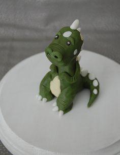 Tiny T-Rex Dinosaur Fondant Figure Dinosaur Cake Toppers, Dinosaur Cupcakes, Dinosaur Birthday Cakes, Fondant Toppers, Dinosaur Party, 3rd Birthday, Birthday Parties, T Rex Cake, Dino Cake