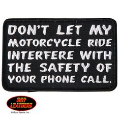 Hot Leathers Phone Call Patch