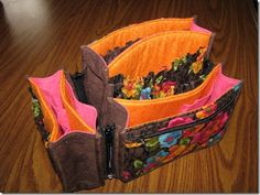 Susan Koch's bright-eyed PortaPocketsPLUS purse insert  May 2012 Handbag of the Month | Studio Kat Designs