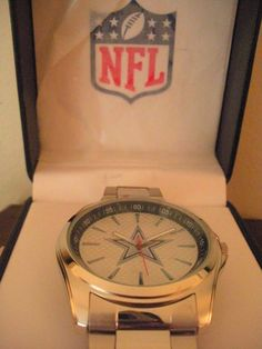 'NFL Dallas Cowboys Watch' is going up for auction at  8pm Tue, Oct 23 with a starting bid of $25.