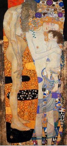 Gustav Klimt, Le tre età della vita, 1905, Roma, Galleria Nazionale d'Arte Moderna-Arte Contemporanea
