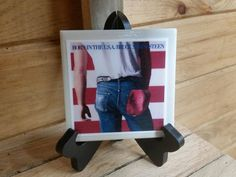 Home Decor Bruce Springsteen Photo Tile Born In The USA 1-4x4 With Stand, Man Cave Decor, Decorative Ceramic Image Tile, Born In The USA by TSHeartsDesire374 on Etsy