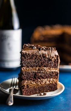 Red Wine Chocolate Cake, Chocolate Cake From Scratch, Layer Cake Recipes, Dessert Recipes, Desserts, Cakes Today, Fudge Sauce, Dessert For Dinner, Homemade Cakes