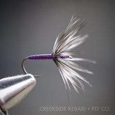 Purple and Grizzly #tenkara #tenkaraflies #Kebari #flytying #flyfishing