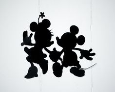 Handcrafted Disney silhouettes - Mickey and Minnie Mouse for the Children's room
