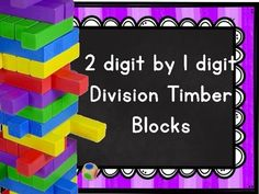 2 by 1 Division with and without Remainders Timber Boxes Teaching Division, Factors And Multiples, Jenga Blocks, Remainders, Love Math, 4th Grade Math, Word Problems, Multiplication, Learning Activities