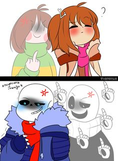 what's everyone can see except Less!Frisk by Twinklii