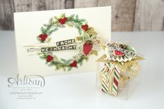 "christmas duo made with ""This Christmas"" Specialty Designer Series Paper and ""peace this christmas"" stamp set ~ Jessica Winter"