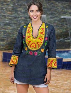BLUSAS - PRIMAVERAL Bordados y Accesorios Cover Up, Crochet, Passion, Natural, Dresses, Ideas, Dapper Clothing, Block Prints, Women's
