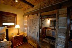 Barn door like in the Gilberts' house to seperate guest area.