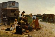 Henri Jules Jean Geoffroy (1853-1924)  Les vanniers