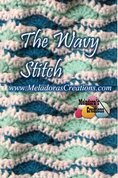Wavy Stitch - Free Crochet Pattern - Meladora's Creations Your place to learn how to Crochet The Wavy Stitch Scarf for FREE. Your place to learn how to Crochet The Wavy Stitch Scarf for FREE. This traditional Star Stitch is a beautiful brioche knittin. Crochet Stitches Free, Crochet Geek, Crochet Chart, Learn To Crochet, Crochet Blanket Patterns, Free Crochet, Knit Crochet, Knitting Patterns, Simply Crochet