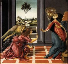 Annunciation Sandro Botticelli 1489-90