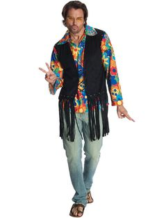 Check out Mens Flower Power Hippie Costume - Hippie Mens Costumes from Wholesale Halloween Costumes