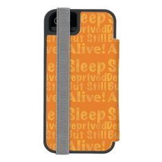 Sleep Deprived But Still Alive in Yellow iPhone SE/5/5s Wallet Case - baby gifts giftidea diy unique cute