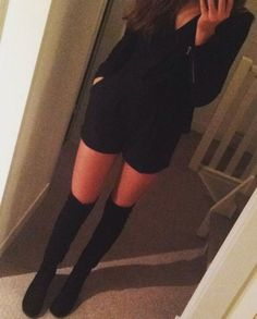 We love this outfit by Saar, including our Over The Knee Boots!